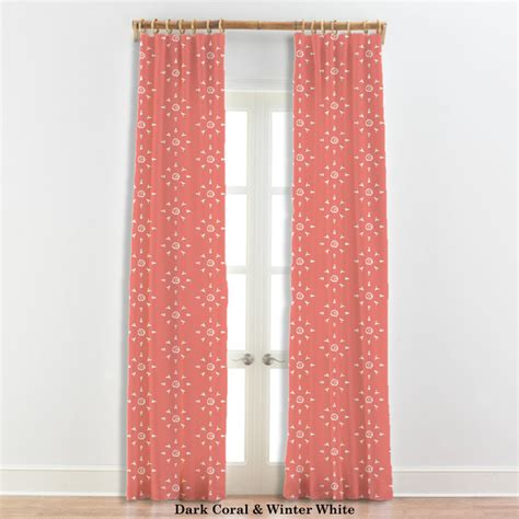 coral curtains moroccan curtains star design coral and white 22 other
