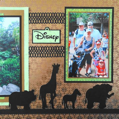 travel scrapbook  disney animal kingdom    cricut