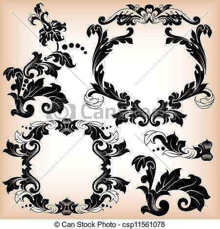 cornice floreale stilizzato floreale cornice modello decorativo