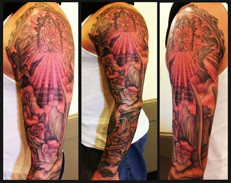 heaven and hell tattoos heaven and hell sleeve by jerez inborn nyc