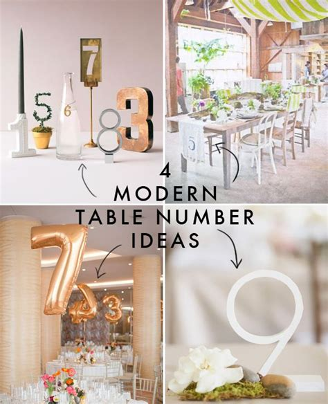 modern wedding table numbers 4 modern table number ideas modern wedding table decor