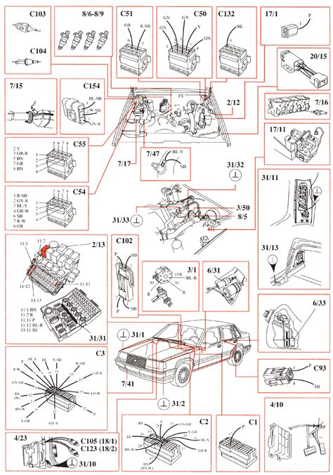volvo 940 1993 wiring diagrams