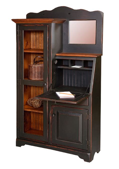 secretary desk with bookcase amish secretary desk bookcase by w mirror in