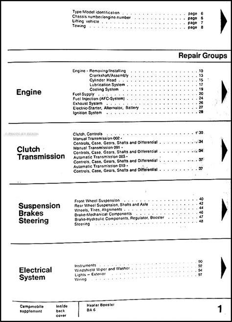 auto repair manual online 1988 volkswagen type 2 seat position control 1974 1978 vw transporter bus type 2 volkswagen factory repair shop manual