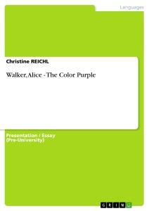 the color purple book publisher walker the color purple self publishing at grin