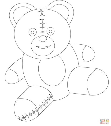 cute teddy bear coloring page free printable coloring pages