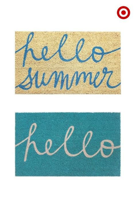Pretty Welcome Mats Welcome Guests And Summer With A Front Door Upgrade A