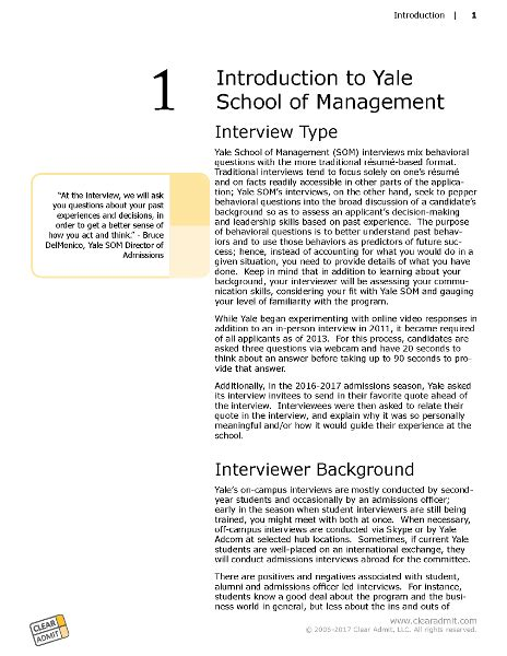 Yale Mba Questions by Guide Yale School Of Management