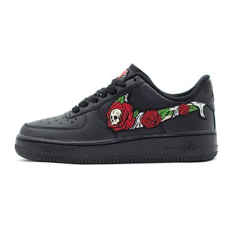 sneakers custom skull n roses wmns air 1 low black custom sneakers