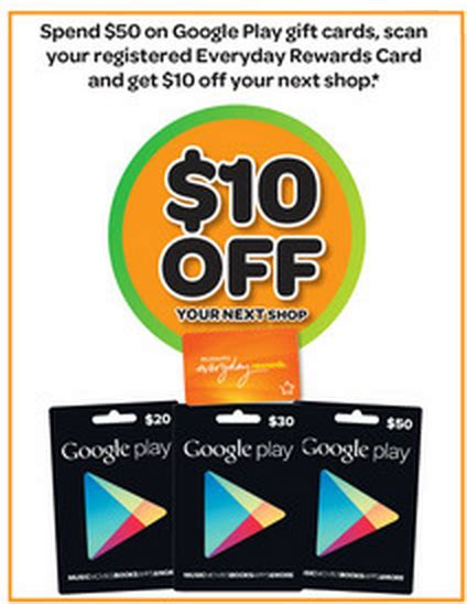 Woolworths Gift Cards 10 Off - woolworths offering deals for purchasing google play gift cards ausdroid