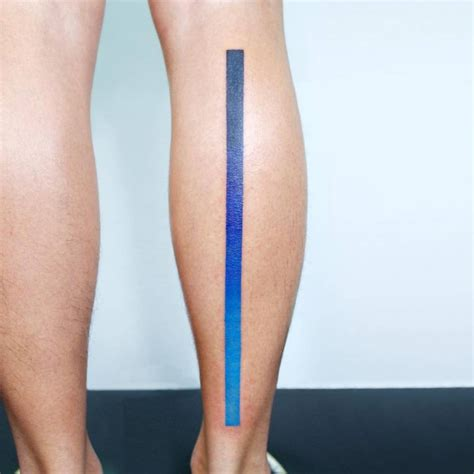 spectrum tattoo spectrum line on the right calf