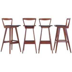 Set Of 4 Bar Stools Set Of Four Rosewood Bar Stools By Henry Rosengren Hansen