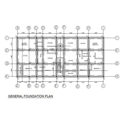 Floor Plan Of Factory by Foundation Plan Apartment Building Cad Plan