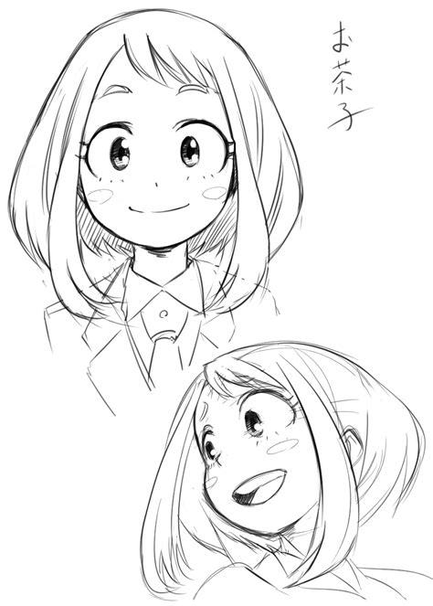 Kaos Anime Boku No Academia White boku no academia uraraka ochako boku no academia dibujo dibujar y