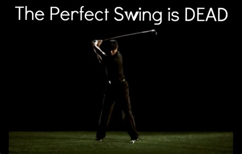 tiger woods perfect swing the perfect golf swing is dead