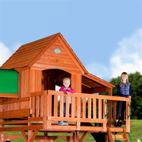 woodridge swing set woodridge ii wooden swing set backyard discovery