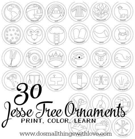 printable jesse tree ornaments free jesse tree ornaments to print and color do small things