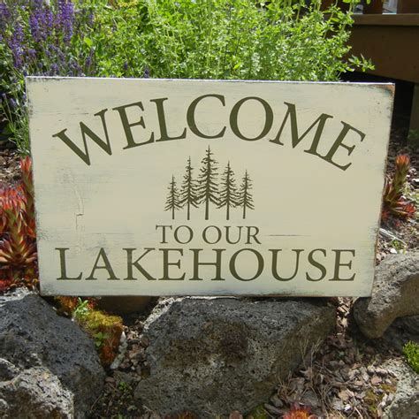 decorative signs for home lake house signs home 187 decorative 187 welcome to our lake