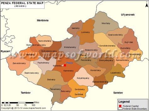 russia penza map penza map oblast of penza russia
