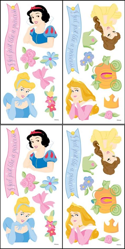 disney princess stickers for walls disney princess accent stickers
