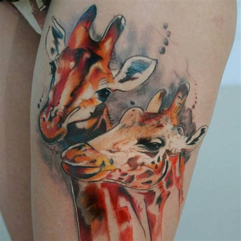 giraffe tattoo meaning 120 best giraffe designs meanings on