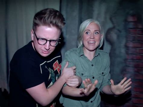 haunted house ellen check out a haunted house with tyler oakley hannah hart out magazine