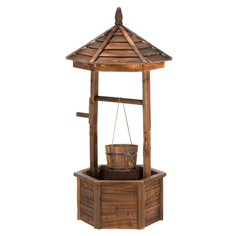 Wishing Well Planters by Rustic Wishing Well Planter