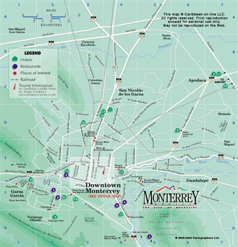 map of monterrey mexico monterrey map my