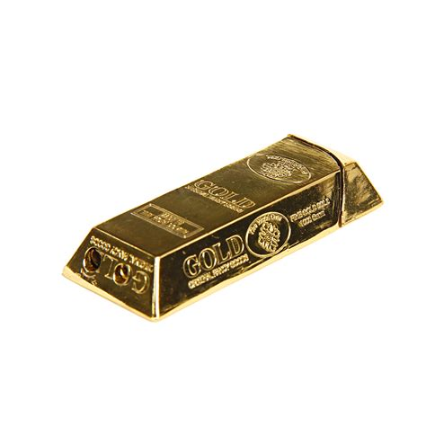 gold bar brick design lighter by fuel gifts