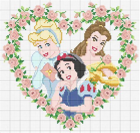 punto de cruz imagenes esquemas graficos y patrones bordados da rosa gr 225 fico de princesas da disney em ponto cruz