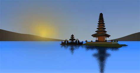 House Silhouette clipart bedugul bali indonesia