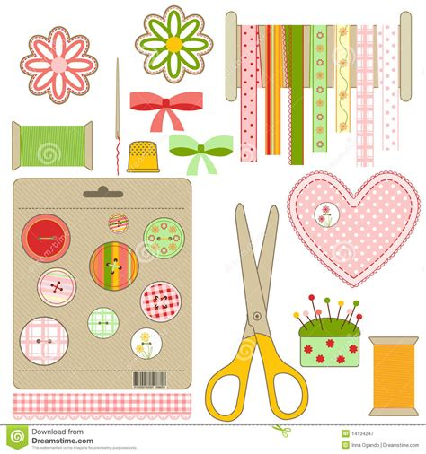 free crafts craft and needlework set royalty free stock photography