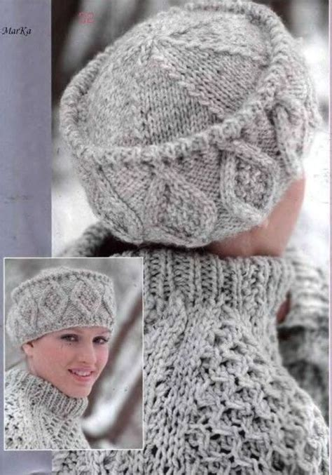 russian knitting patterns 2131 best dos agujas gorros para dama images on