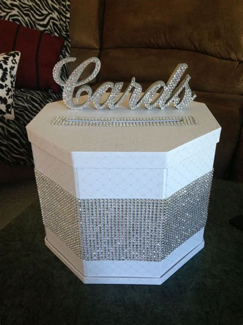 Blinged Out Wedding Card Box diy blinged out gift card box michele and joe