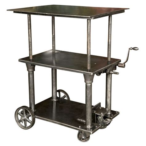industrial tables for sale industrial adjustable table for sale at 1stdibs
