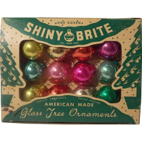 vintage shiny brite christmas ornaments in original box