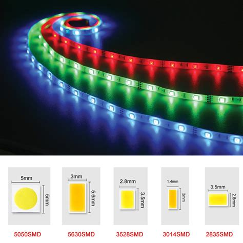 Dc12v Rgb Led Strip Light Smd 5050 5630 3528 2835 Fita Led Rgb Led Lights Strips
