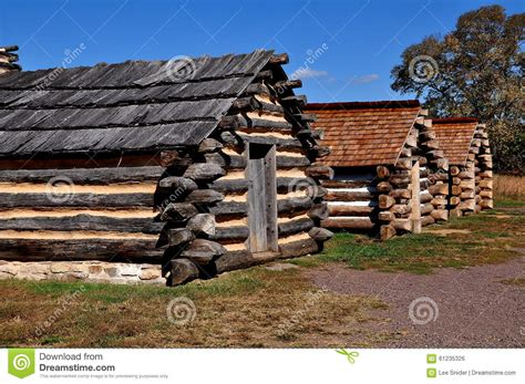 Valley Forge Log Cabins by Valley Forge Pa Winter Encment Log Cabins Editorial