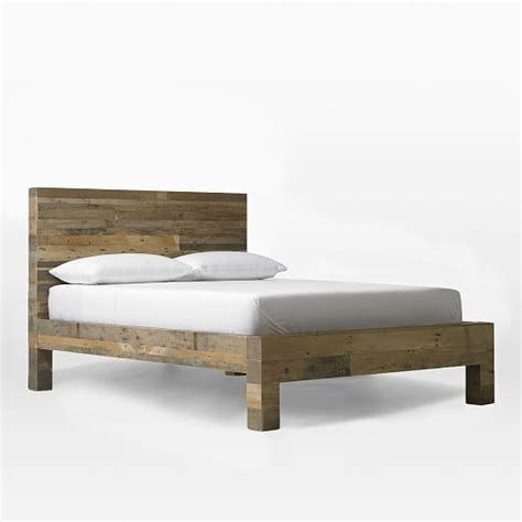 west elm beds emmerson reclaimed wood bed natural west elm
