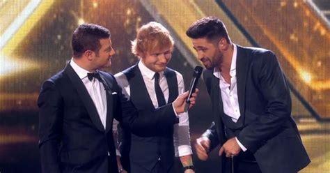 ed sheeran x factor final x factor final 2014 ed sheeran thanks ben haenow for