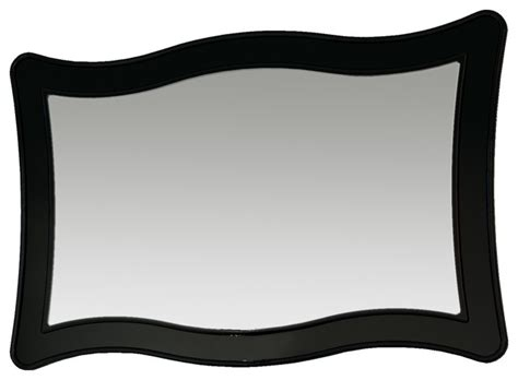 ondas 59 quot mirror wall black modern bathroom mirrors