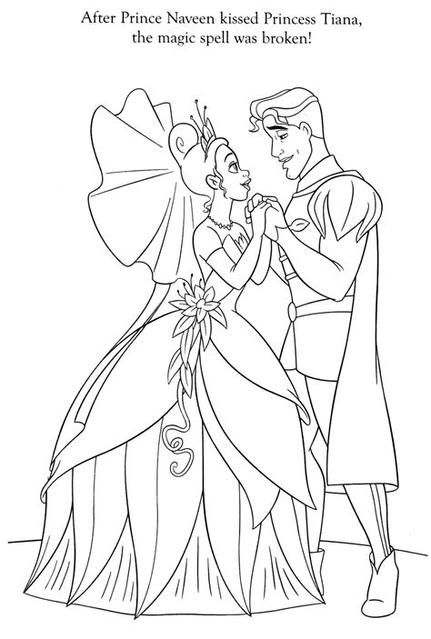 tiana and naveen coloring pages coloringsuite com