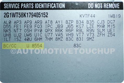 pontiac paint code locations touch up paint automotivetouchup