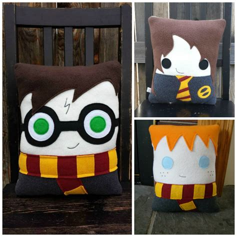 Harry Potter Pillow by Wizard Pillow Harry Hermione Draco Plush