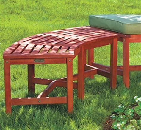 wooden fire pit bench eucalyptus solid wood fire pit curved bench 44 quot outdoor