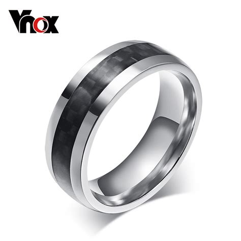 stainless steel jewelry aliexpress buy vnox fashion ring carbon fiber