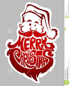 Merry christmas santa claus label stock photography image 27672242