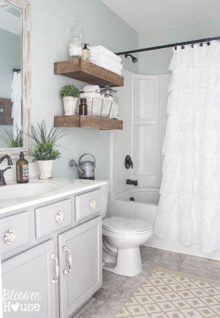 sherwin williams light blue chic bathrooms salts and gray vanity on pinterest