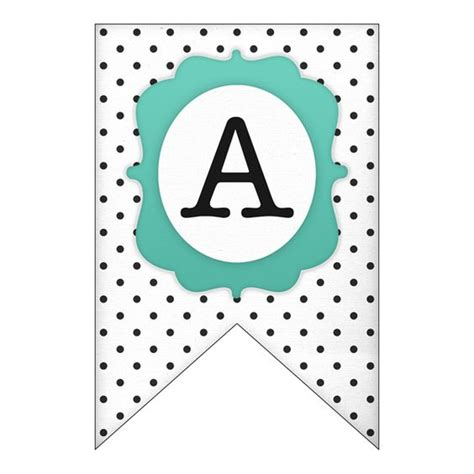 printable alphabet pennant banner banners free printable and polka dots on pinterest