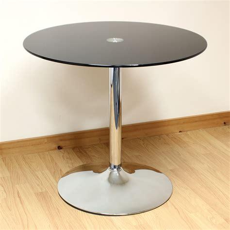 cafe dining table hartleys 80cm black chrome glass dining kitchen